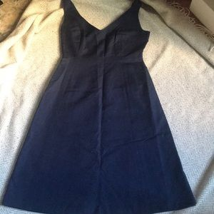 J crew navy V-neck cotton dress
